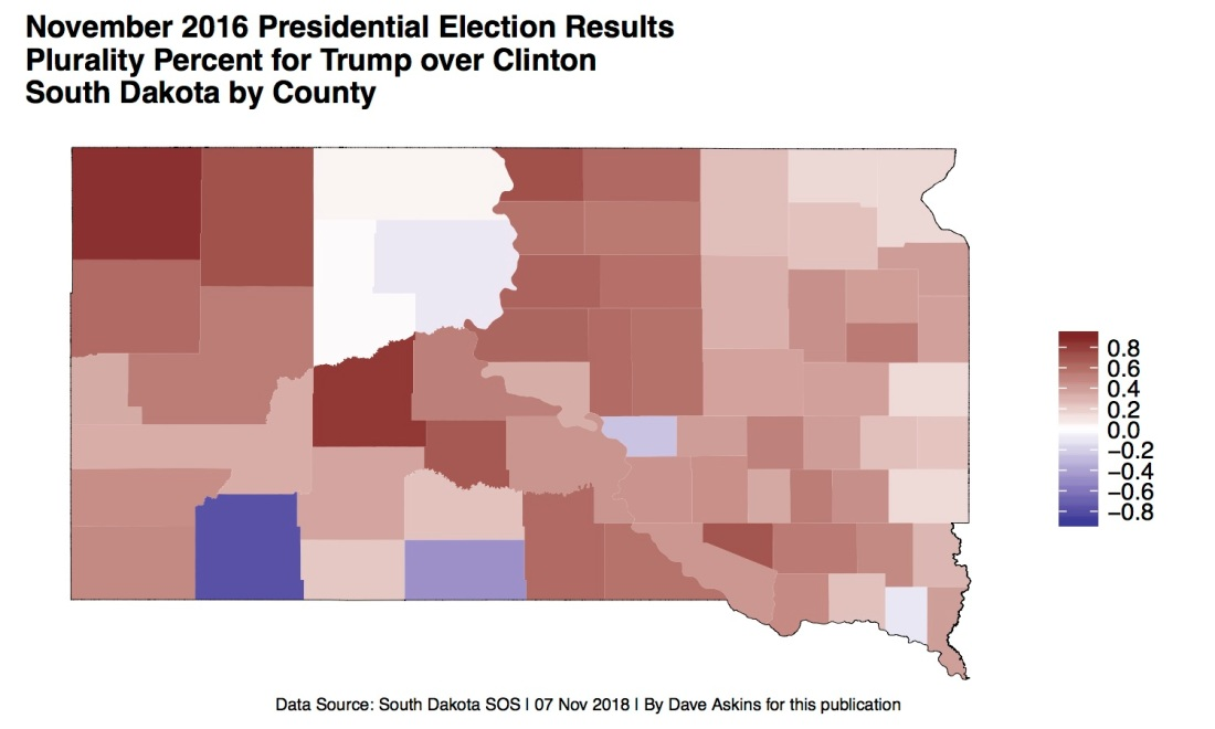 R Map Election South Dakota TRUMPOVERCLINTON2016