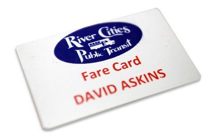 photo of a fare card